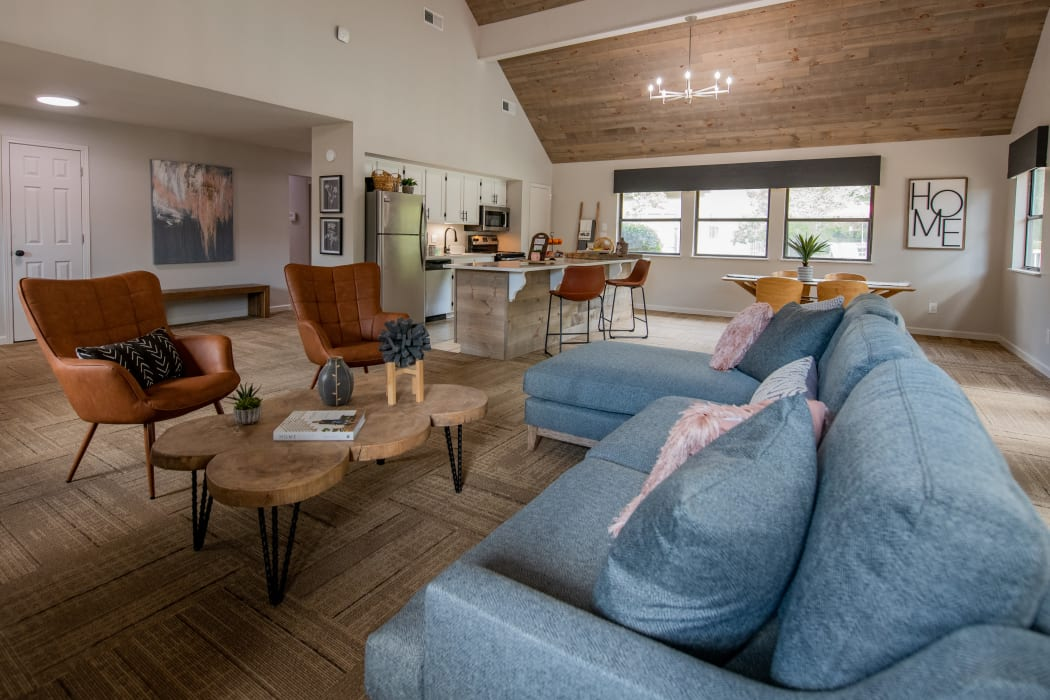 Inside the clubhouse at The Mark Apartments in Ridgeland, MS