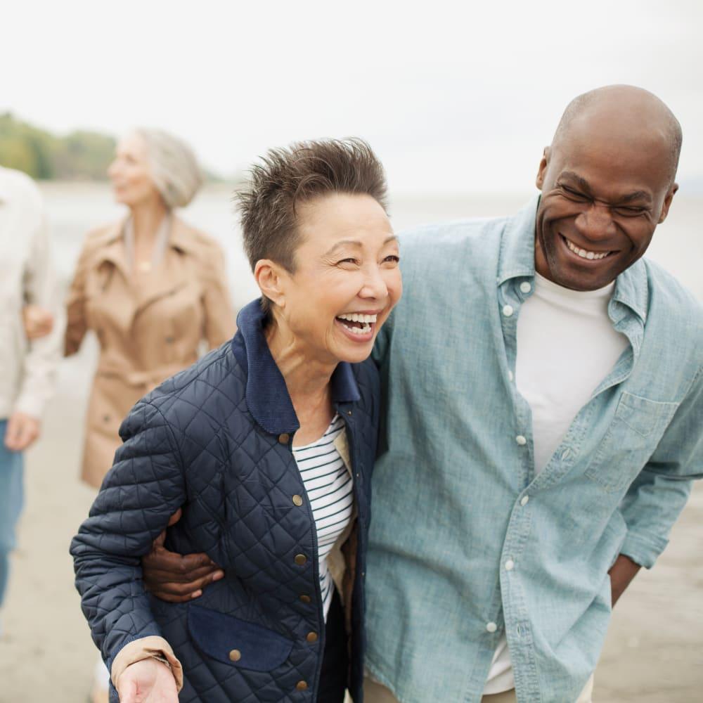 Two residents taking a walk at Anthology of Novi - OPENING 2020 in Novi, Michigan