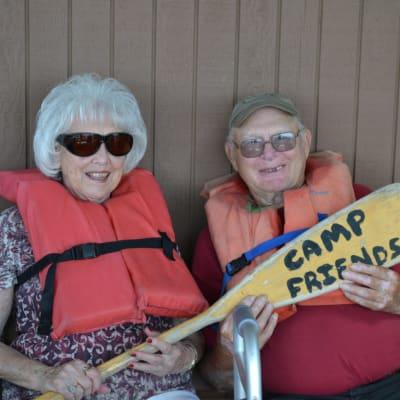 Two resident friends at Camp Friendship near Ebenezer Ridges Campus in Burnsville, Minnesota