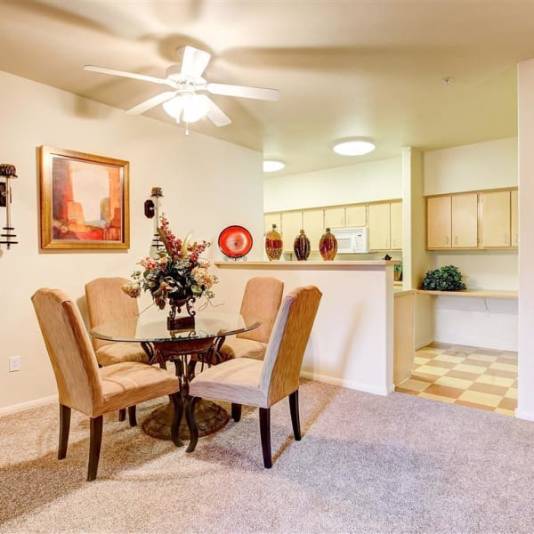 Dining Room at Capitol Place Apartments in West Sacramento, California