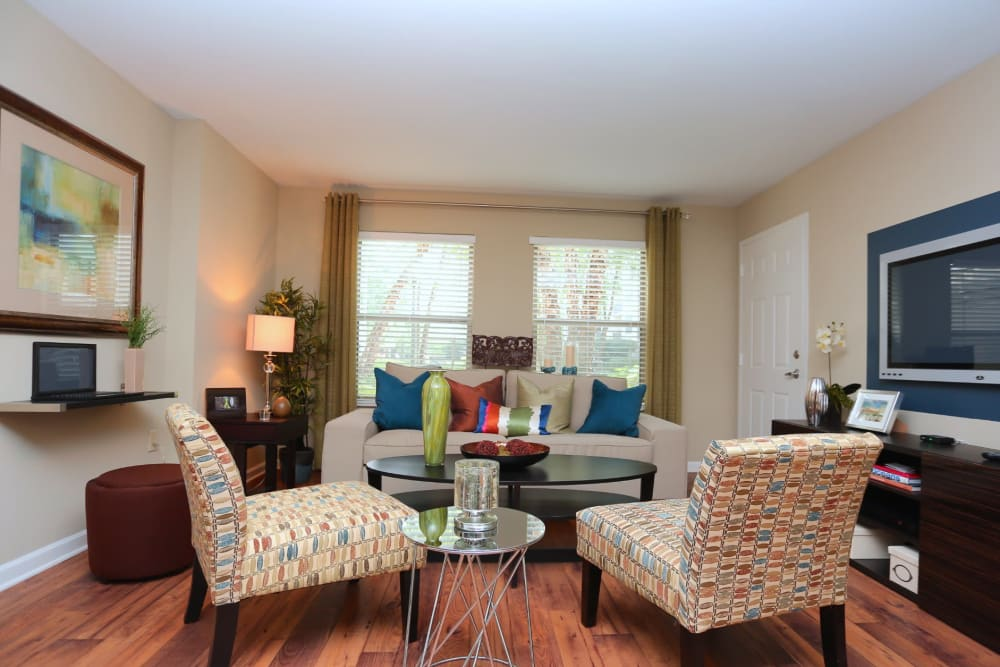 Spacious open-concept floor plan in a model home at City Plaza in Atlanta, Georgia