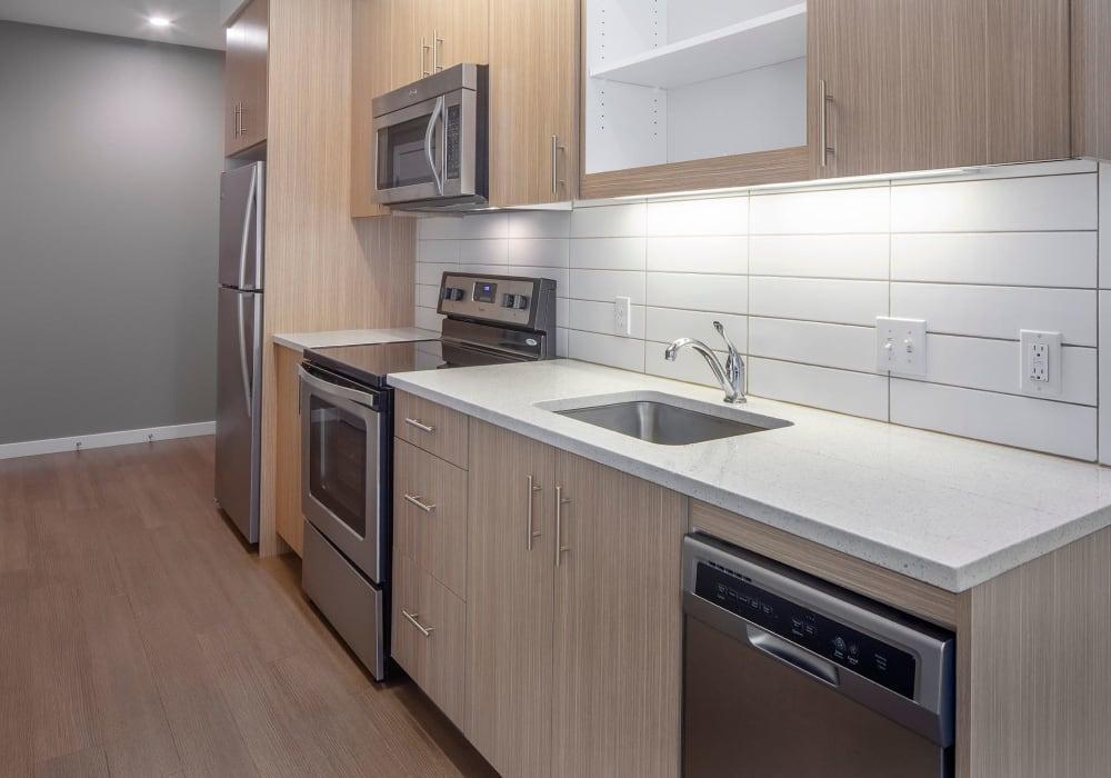 Stunning kitchen at Overlook Park in Portland, Oregon