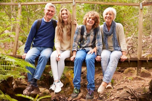 Family hiking near Aspen Valley Senior Living in Boise, Idaho