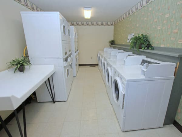 Laundry facility at Fox Park Apartments in Plymouth, New Hampshire