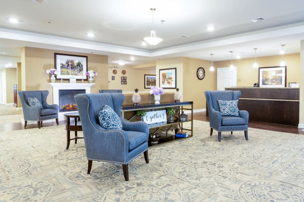 Lobby at The Harmony Collection at Roanoke - Assisted Living in Roanoke, Virginia