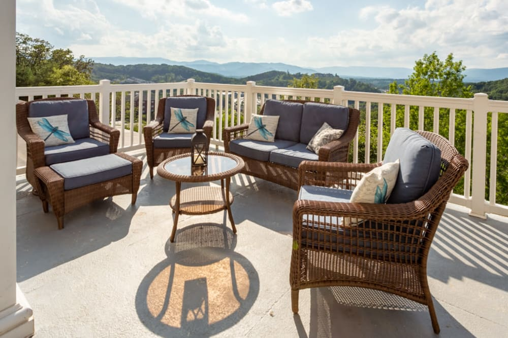 Outdoor seating at The Harmony Collection at Roanoke - Independent Living in Roanoke, Virginia