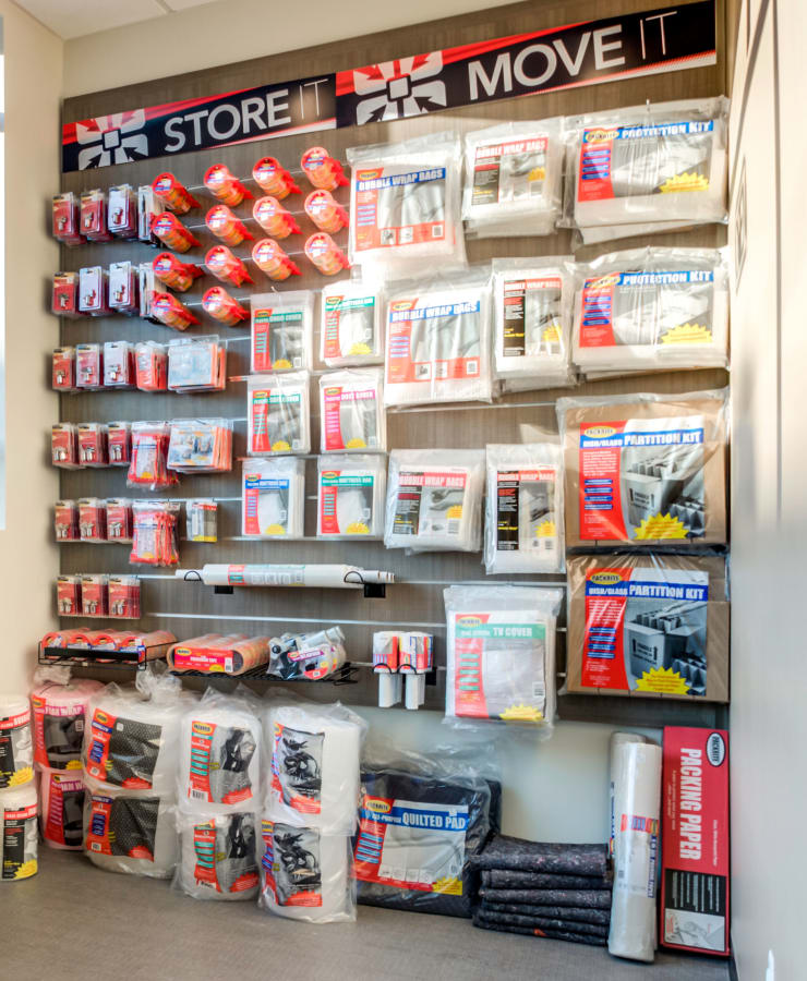 Packing supplies available at StorQuest Express - Self Service Storage in Tampa, Florida