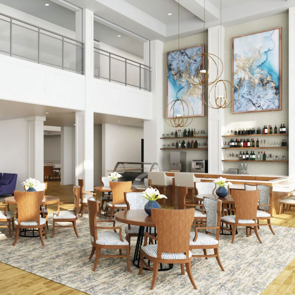 Community clubhouse at Anthology Senior Living in Chicago, Illinois