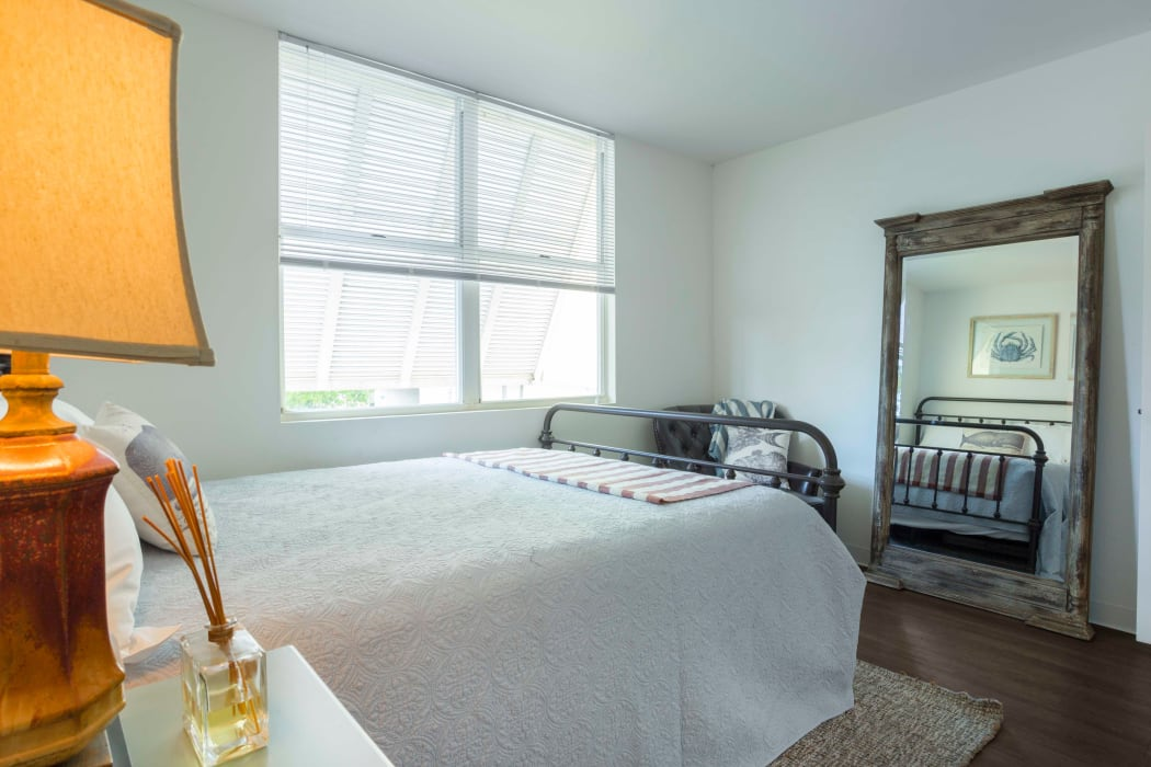 Beautiful bright bedroom at Ocean Walk Apartments in Key West