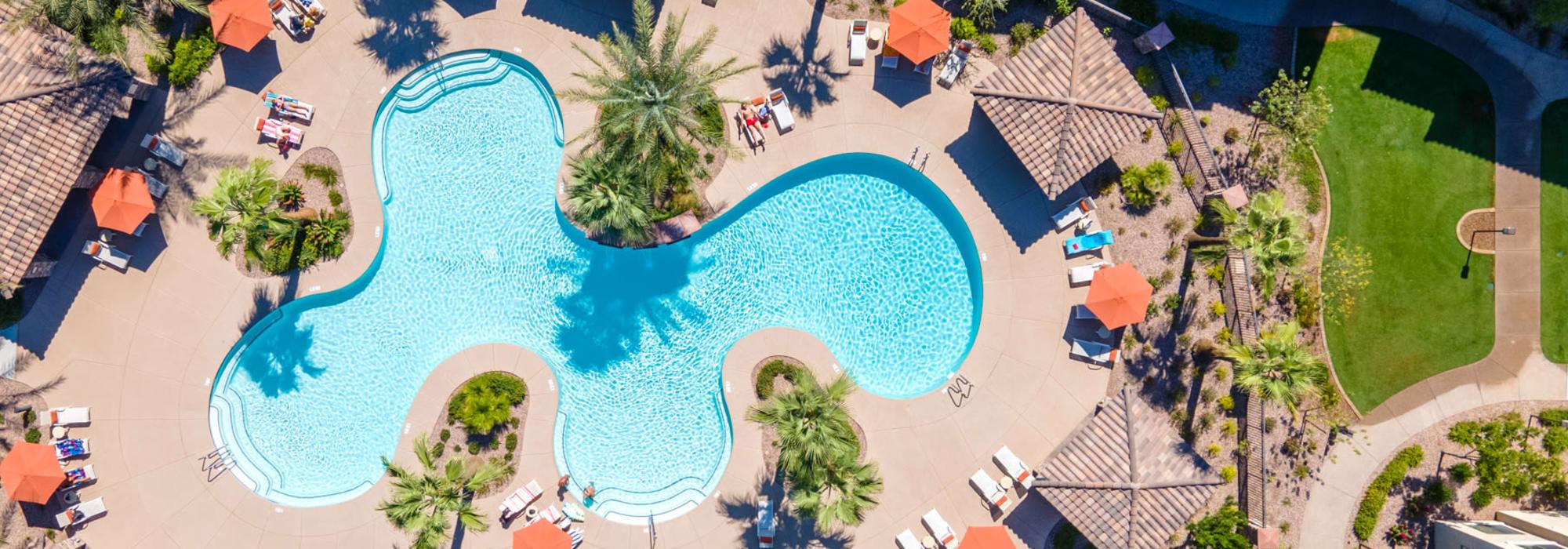 Resort-style pool at San Milan in Phoenix, Arizona