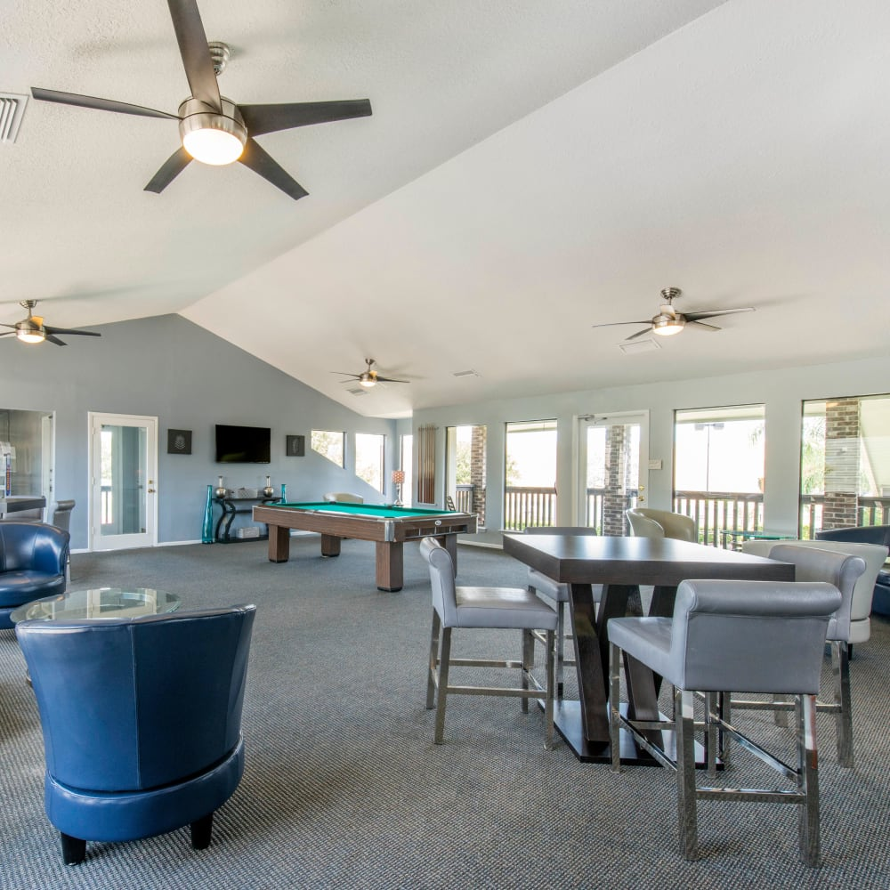 Resident clubhouse with plenty of seating at Compass in Melbourne, Florida