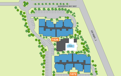 Site map for Riverwalk Pointe in Jupiter, Florida