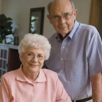 Resident couple in their apartment at Osborne Apartments