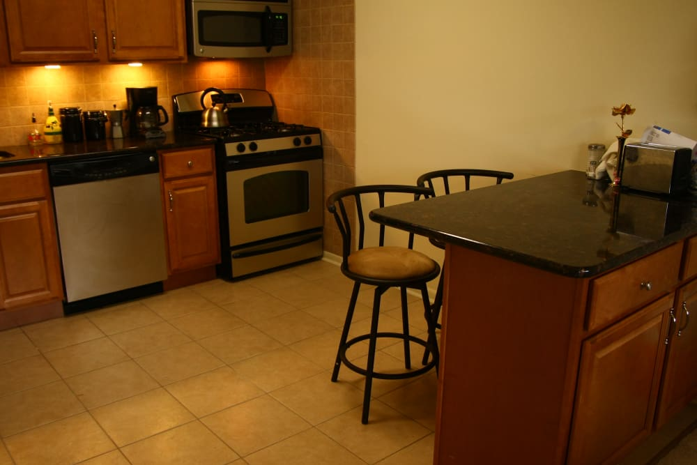 Breakfast bar at Haddonview Apartments