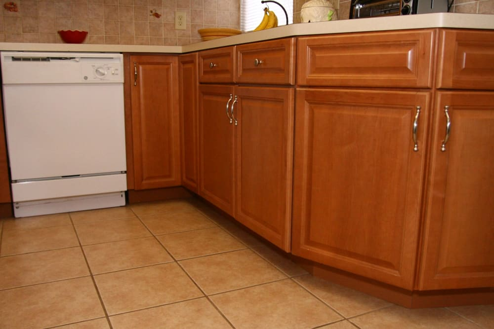 Spacious kitchen cabinets at The Heights at Spring Lake in Spring Lake, New Jersey