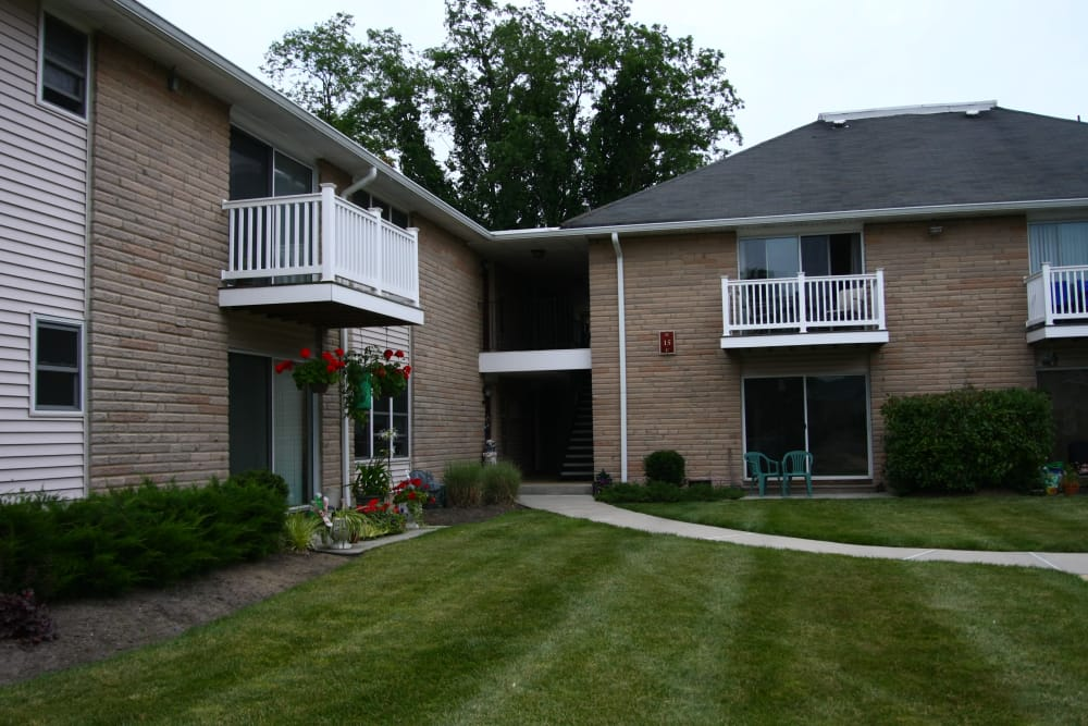 Private balconies or patios are offered at The Heights at Spring Lake in Spring Lake, New Jersey