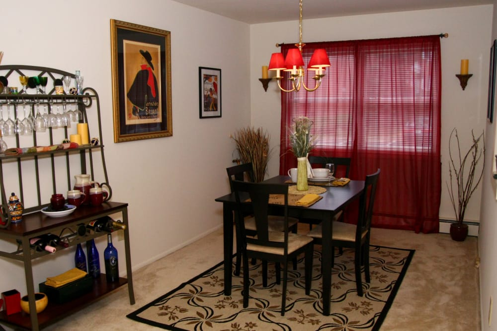 A dining room at Center Grove Village