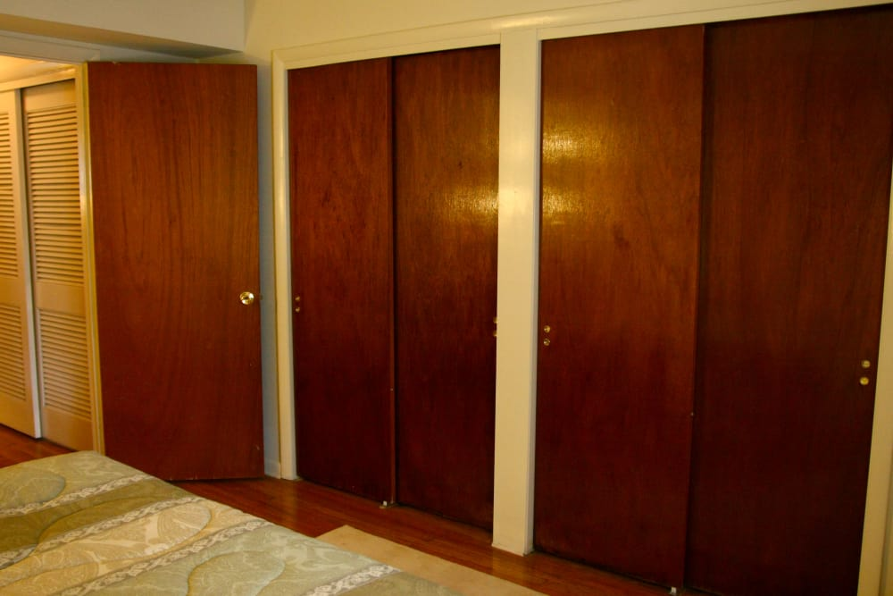Closet doors at Brookview Manor Apartments