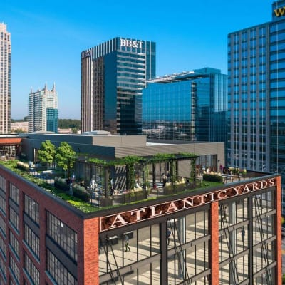 Rooftop patio at 17th Street Lofts in Atlanta, Georgia