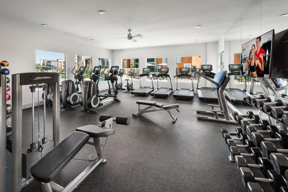 Onsite fitness center at Villa Vita Apartments in Peoria, Arizona