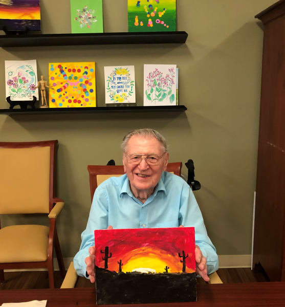 An Oaks resident presents his finished artwork and it looks amazing!