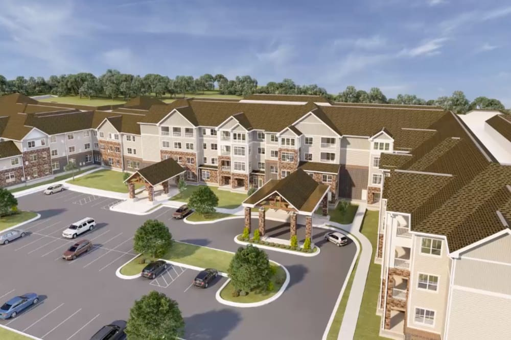 Architectural rendering of exterior at Harmony at Brookberry Farm in Winston-Salem, North Carolina