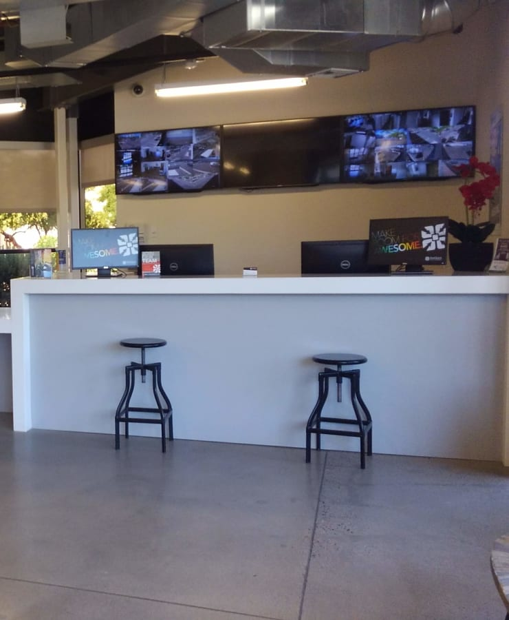 Interior of the leasing office at StorQuest Self Storage in Chandler, Arizona