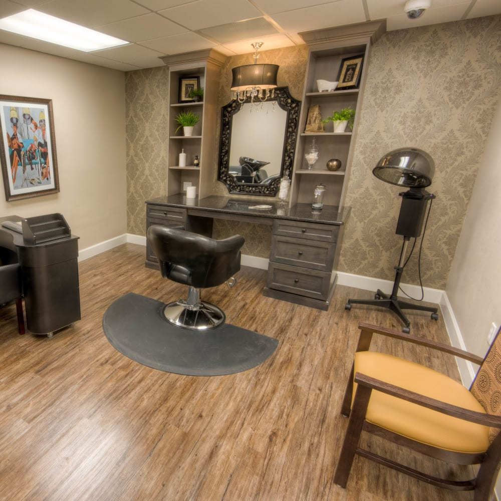 onsite salon at Inspired Living in Tampa, Florida