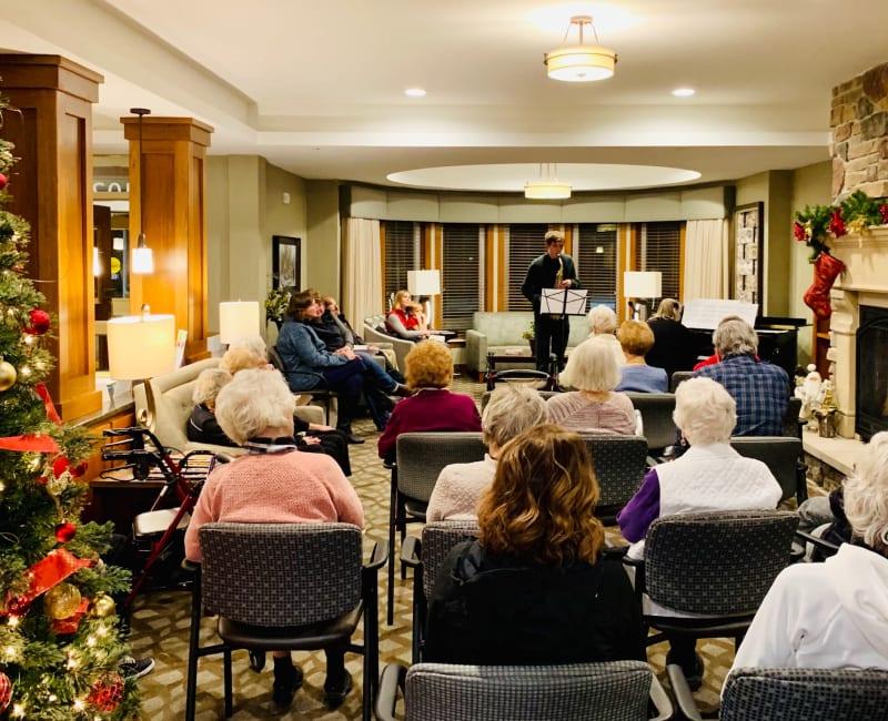 Holiday concert recital at Arbor Glen Senior Living in Lake Elmo, Minnesota