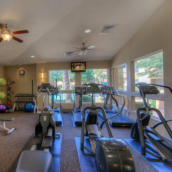 Fitness center at Bellagio in Scottsdale, Arizona
