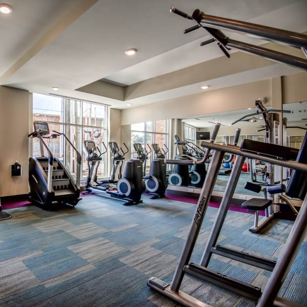 Luxury fitness center at Mercury NoDa in Charlotte, North Carolina