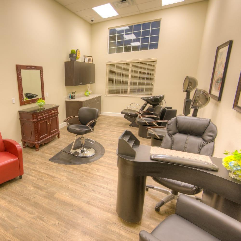 Resident salon at Inspired Living at Sun City Center in Sun City Center, Florida