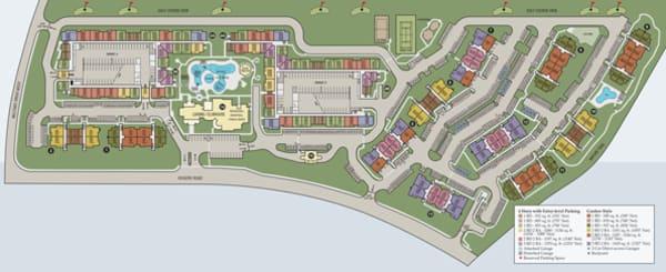 Site map of Villas in Westover Hills in San Antonio, TX