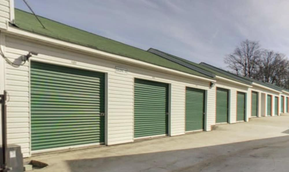 Wide drive-up aisles at Compass Self Storage