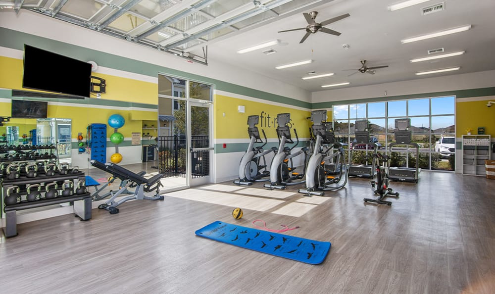 high end fitness center at Springs at Tapestry in Kissimmee, FL
