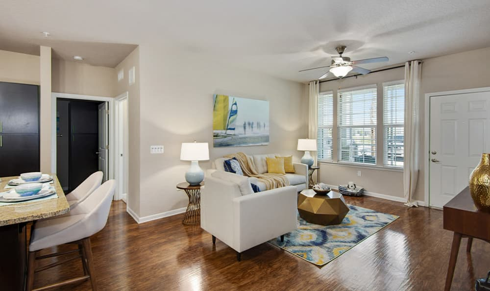 high end living room at Springs at Tapestry in Kissimmee, FL
