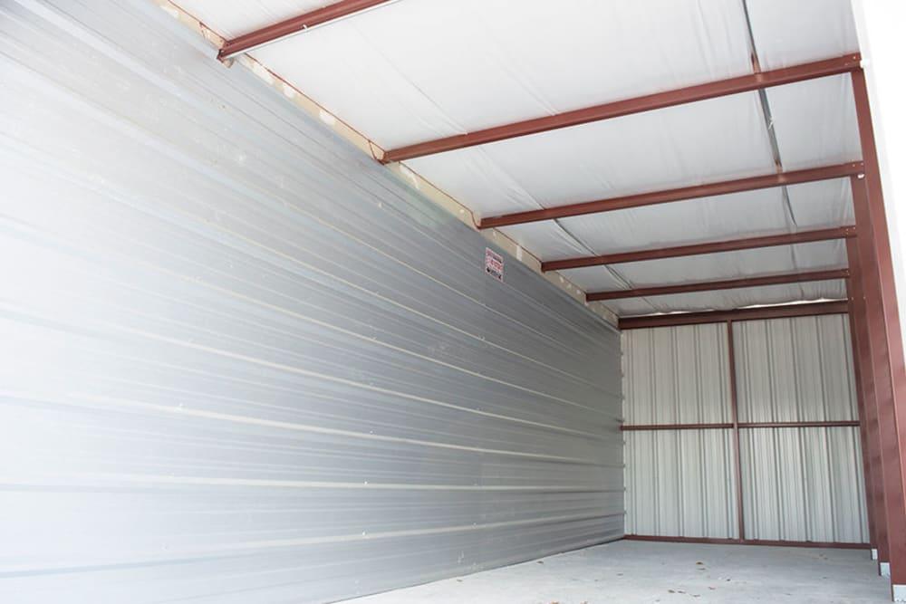 Inside a storage unit at Atlantic Self Storage in Jacksonville, Florida