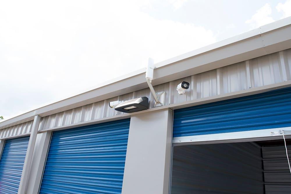 Outdoor unit with sliding door at Atlantic Self Storage in Jacksonville, Florida