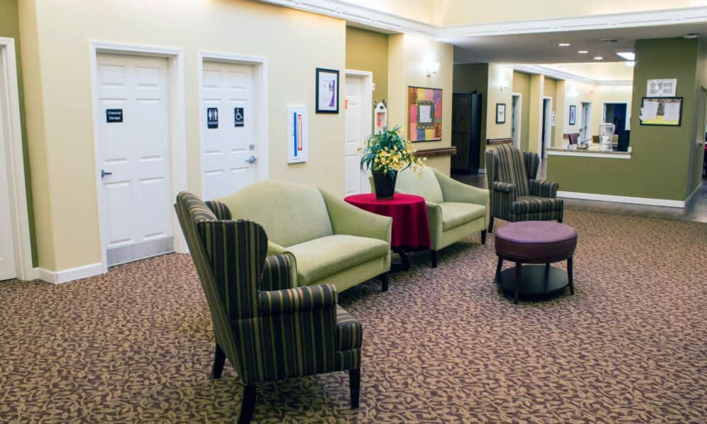 Resident TV Area at Evergreen Memory Care