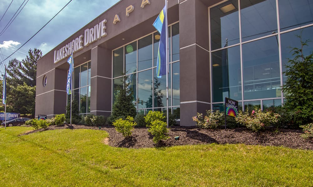 Exterior of leasing office at Lakeshore Drive in Cincinnati, Ohio