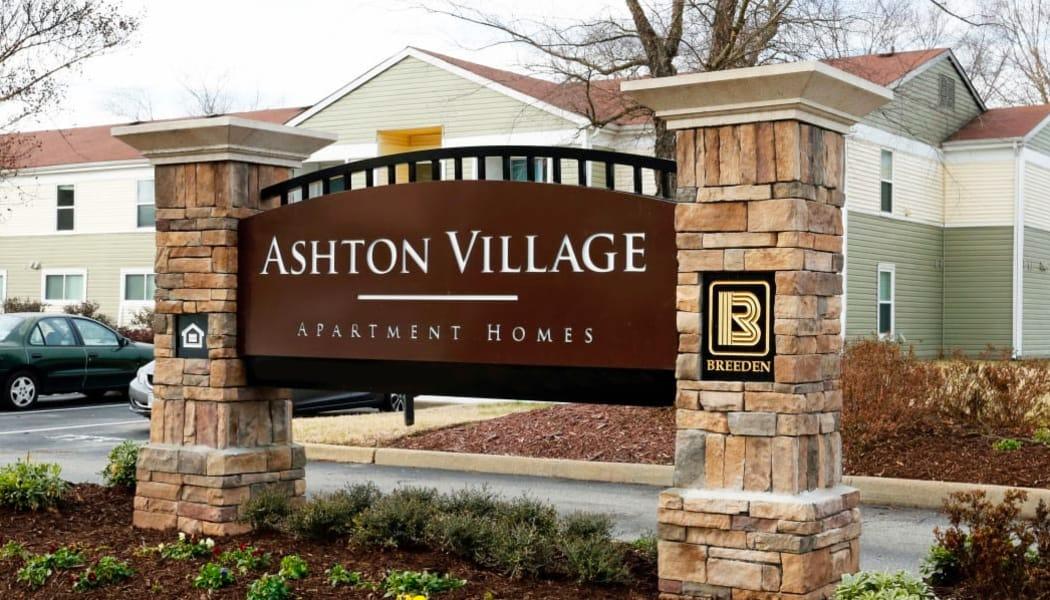 Monument sign at Ashton Village in Portsmouth, VA