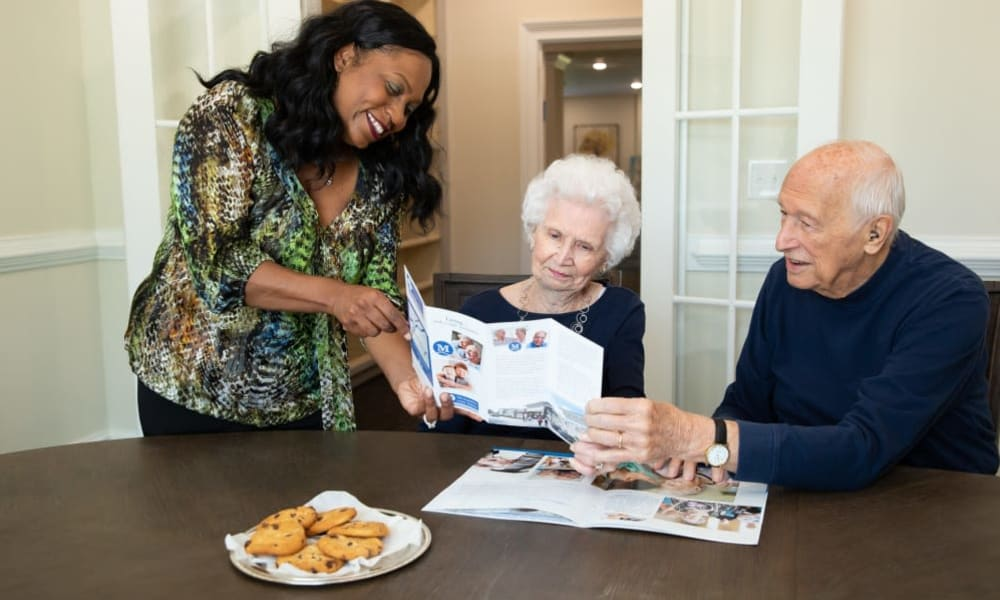 Residents ordering food at The Mansions at Gwinnett Park Assisted Living and Memory Care in Lawrenceville, Georgia