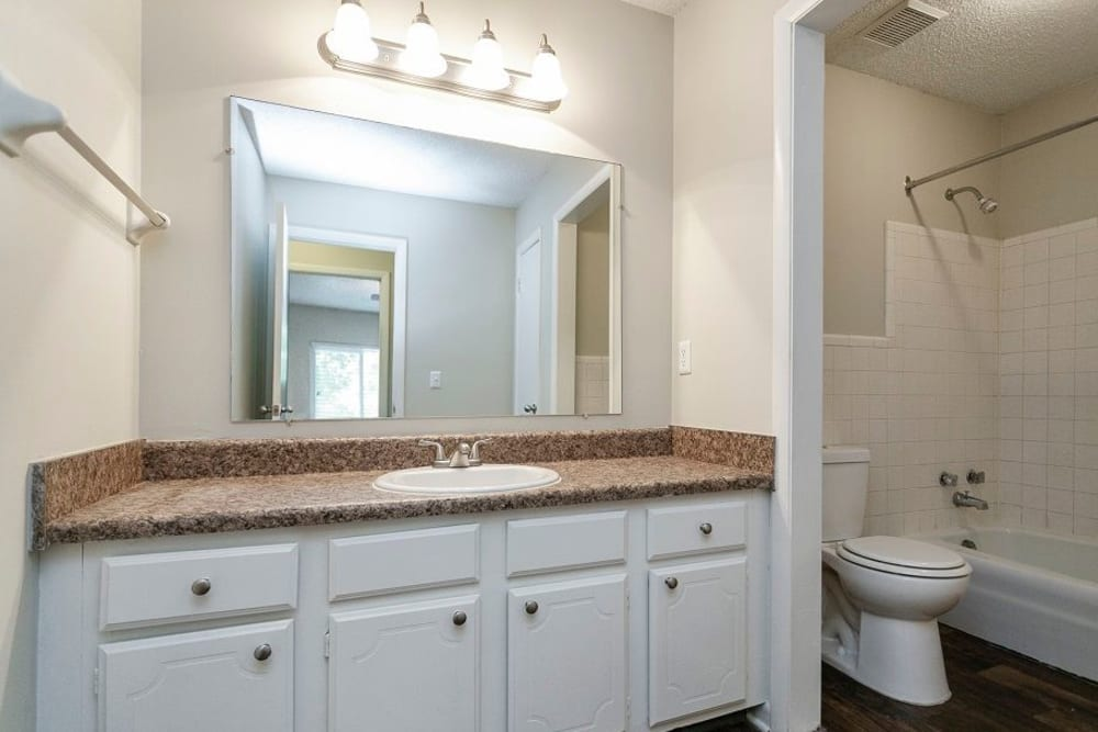 Bathroom model at Candlewood Apartments in Nashville, Tennessee