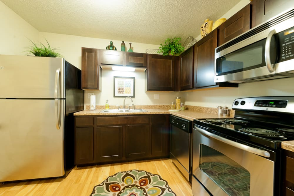 kitchen room at apartments in West Des Moines, IA