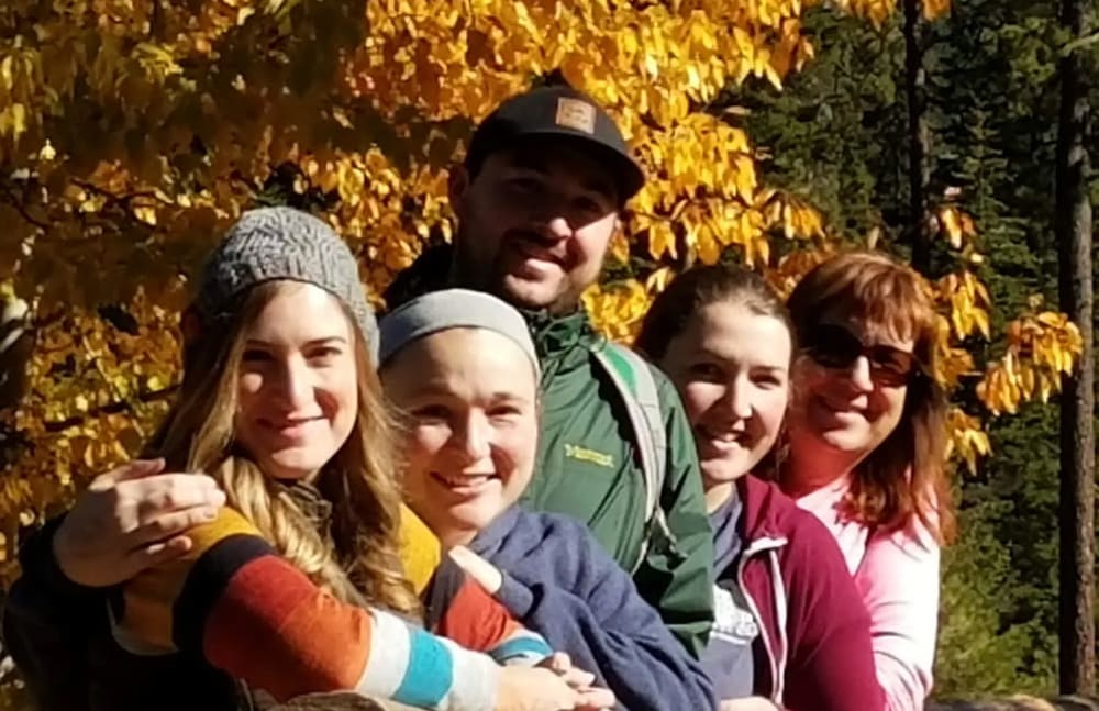 Michaela from Touchmark on South Hill in Spokane, Washington with her family.