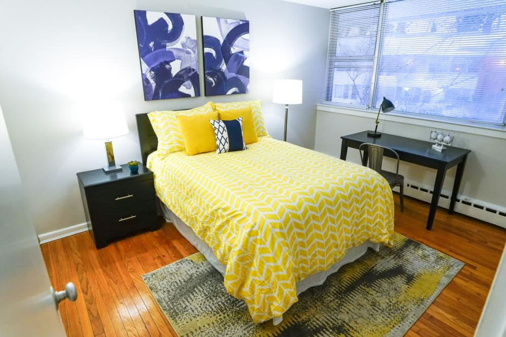 Beautiful bedroom at Cherokee Apartments in Philadelphia, Pennsylvania