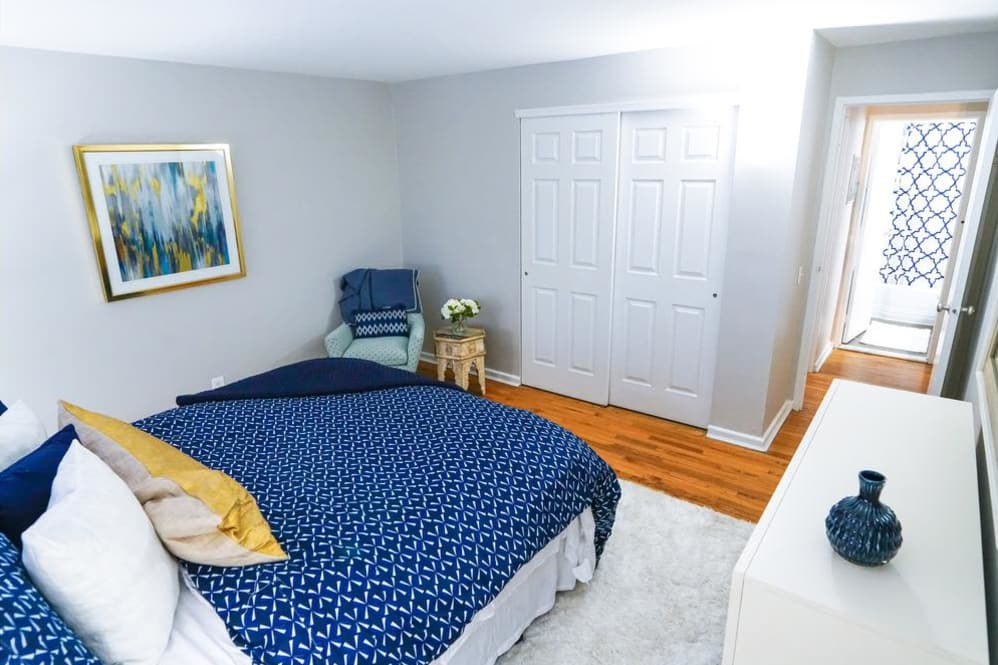 Example bedroom at apartments in Philadelphia