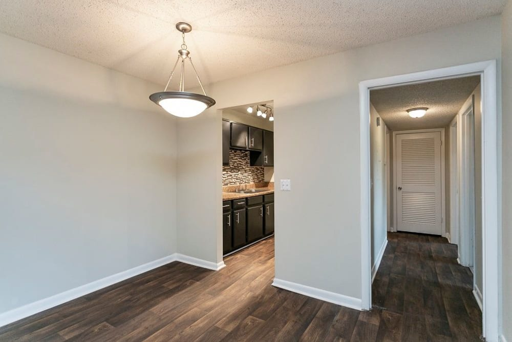Hardwood floors at Candlewood Apartments in Nashville, Tennessee