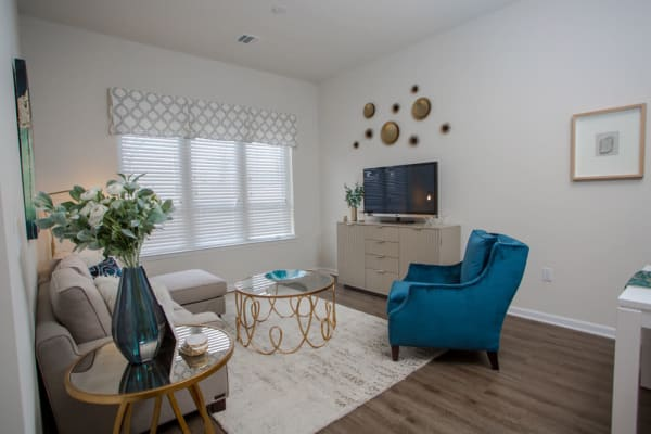 Plenty of space for storage in a model apartment home at The Mark Parsippany in Parsippany, New Jersey
