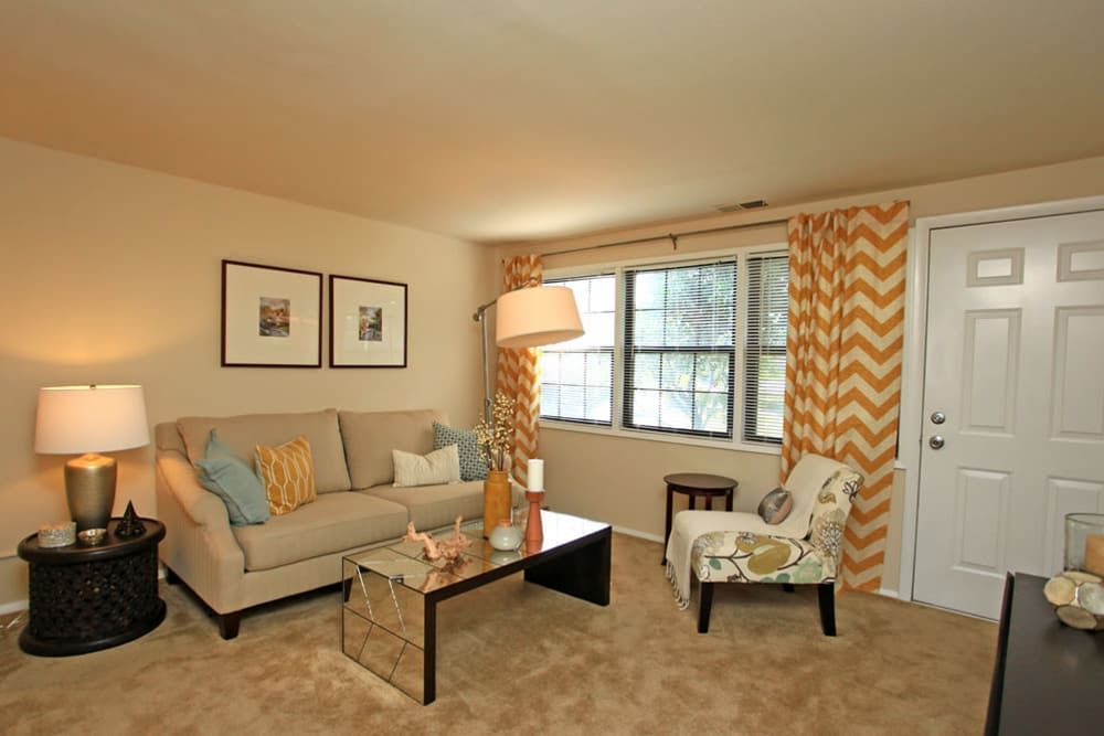 Riverview Townhomes offers a living room in Halethorpe, Maryland